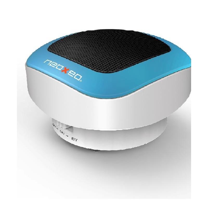 neoxeo spk 120 enceinte ordinateur bleue bluetooth. Black Bedroom Furniture Sets. Home Design Ideas