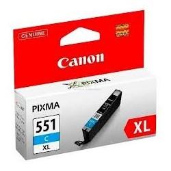 Cartouche cyan Canon CLI-551CXL  pour Pixma MG5450 / MG6350...