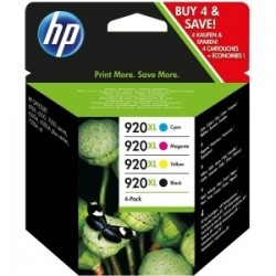 Pack 4 cartouches encre HP pour officejet 6500 ... (N°920XL)