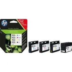 PACK 4 cartouches jet d'encre Haute Capacité pour HP Office jet pro 6100/ 6600....(933XL / 932XL)