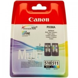 Multipack  Canon (CL-511 / PG-510)  pour Pixma MP 240 / MP480 / MP260 (tricolor + noir)