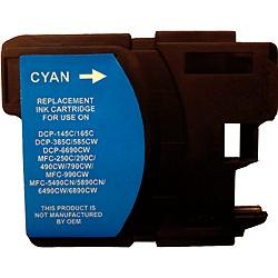 Cartouche cyan haute capacité générique pour Brother (compatible LC1100, LC980)