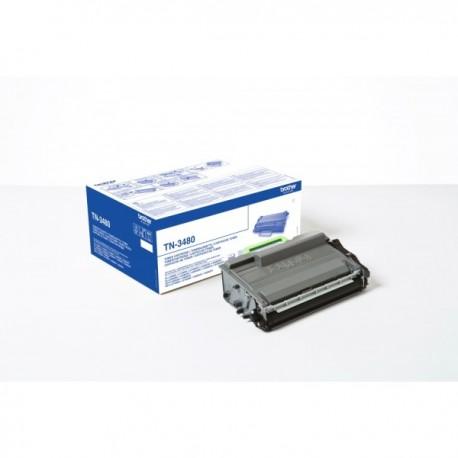 Toner Brother haute capacité pour DCP-L5500DN/ L5000/ L6600.. (TN3480)