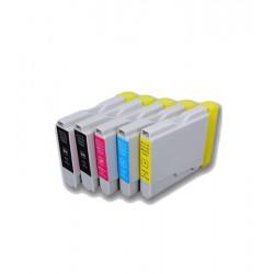 Pack de 5 cartouches génériques pour Brother DCP130C / DCP330C / DCP750CW