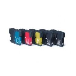 Pack de 5 cartouches génériques pour Brother (compatible LC1100, LC980)
