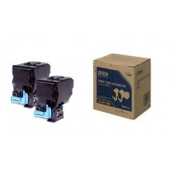 Pack de 2 Toners noirs Epson pour aculaser C3900/CX37DTN/CX37DN...