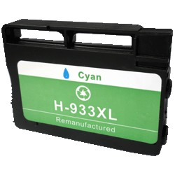 Cartouche cyan générique pour HP officejet pro 6100 / 6600 / 6700 (N°933XL)