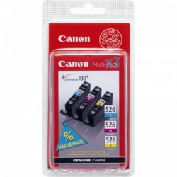 Pack tricolor Canon CLI-526C/M/Y pour IP4850 / MG5150.....