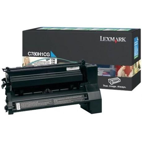 Toner cyan longue durée Lexmark pour C780 / C782 ....