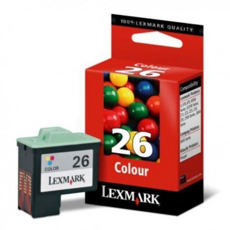 Cartouche couleur LEXMARK N°26 (10N0026E) Haute Capacité