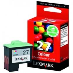 Cartouche couleur LEXMARK N°27 (10N0227E) (10NX227E)Basse Capacité