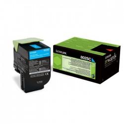 Toner cyan Lexmark pour CX310n / CX410e ... haute capacité (802SC)
