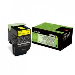 Toner Lexmark jaune pour CX410 / CX510...  (802HY)