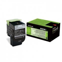 Toner Lexmark noir pour CX410 / CX510...  (802HK)