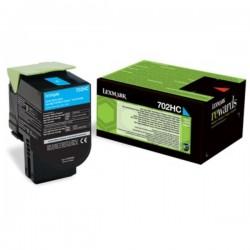 Toner cyan haute capacité Lexmark pour CS310 / CS410 / CS510 .... (702HC)