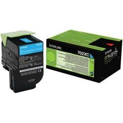 Toner Cyan Très haute capacité Lexmark pour CS510 (702XC)