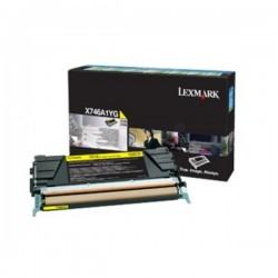 Toner jaune Lexmak X746de / X748 (Alt. X746A2YG)