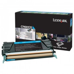 Toner cyan Lexmark LRP pour gamme C746 / C748