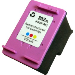 Cartouche d'encre Générique tri-color pour HP officejet 3830 (N°302XL)