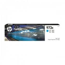 Cartouche jet d'encre Cyan Haute Capacité HP pour PageWide : Pro 452dw / 477dw ....(N°973X)