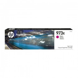 Cartouche jet d'encre Magenta Haute Capacité HP pour PageWide : Pro 452dw / 477dw ....(N°973X)