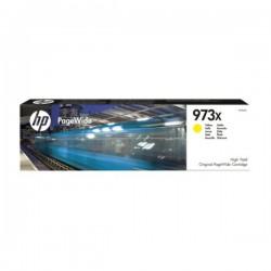 Cartouche jet d'encre Jaune Haute Capacité HP pour PageWide : Pro 452dw / 477dw ....(N°973X)