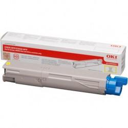 Toner jaune Oki haute capacité pour multifonction C3520MFP / C3530MFP / MC360MFP (43459369)