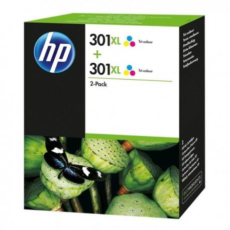 Pack 2 encres couleurs HP pour deskjet 1050 / 2050 / 3050 ... (N°301XL)