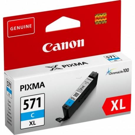 Cartouche Encre Cyan Haute capacité (CLI-571C XL) pour Canon Pixma MG 5750 / MG 6850...