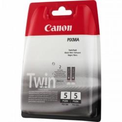 2* Cartouches d'encre Canon PGI-5BK noir (Twin Pack) (0628B030)