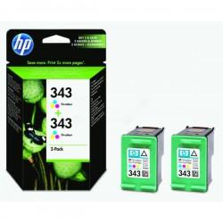 Pack de 2 Cartouches Couleur HP pour Deskjet 6520 ... (N°343)