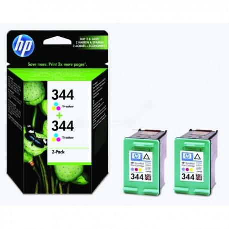Pack de 2 cartouches Couleur HP pour deskjet 5740 ... (N°344)