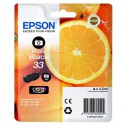 Cartouche Noire photo Epson pour Expression Premium XP-630 / XP-830 ... (n°33 - orange) (C13T33414012)