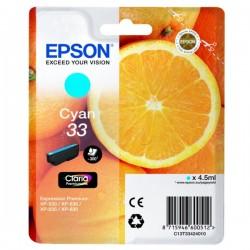 Cartouche Cyan Epson pour Expression Premium XP-630 / XP-830  ... (n°33 - orange) (C13T33424012)