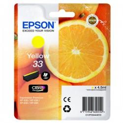 Cartouche Jaune Epson pour Expression Premium XP-630 / XP-830 ... (n°33 - orange) (C13T33444012)