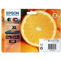Multipack 5 couleurs Epson Haute Capacité pour Expression Premium XP-630 / XP-830 ... (n°33XL - orange)(C13T33574011)