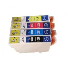Pack de 4 cartouches XL génériques pour Epson WorkForce WF-2010w / WF-2520nf ... (N°16XL - Plume)
