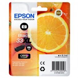 Cartouche Noire photo Epson Haute Capacité pour Expression Premium XP-630 / XP-830 ... (n°33XL - orange) (C13T33614012)