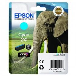 Cartouche cyan éléphant Epson série 24 pour expresssion photo XP750 / XP850 (C13T24224012)