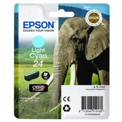 Cartouche cyan clair éléphant Epson série 24 pour expresssion photo XP750 / XP850 (C13T24254012)