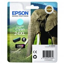 Cartouche cyan clair XL éléphant Epson série 24 pour expresssion photo XP750 / XP850 (C13T24354012)