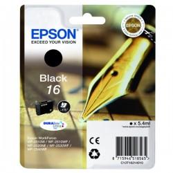 Cartouche noire Epson pour WorkForce WF-2010w / WF-2520nf ... (n°16 - plume) (C13T16214012)