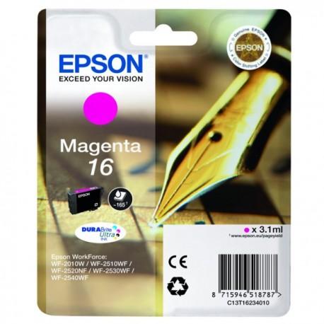 Cartouche magenta Epson pour WorkForce WF-2010w / WF-2520nf ... (n°16 - plume) (C13T16234012)