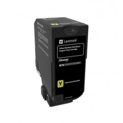 Cartouche de toner Return Program Jaune LEXMARK pour CS720 CS725, CX725  Standard (7K)