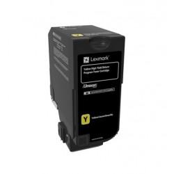 Cartouche de toner Return Program JauneLEXMARK pour CS720, CS725, CX725 Haute Capacité (16k)