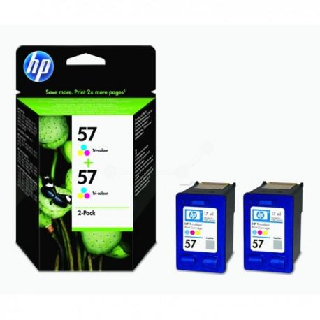 Pack de 2 cartouches 3 Couleurs HP poru Deskjet 450 ...  (N°57)
