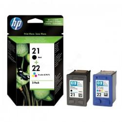 Pack cartouche encre HP 1 Noire N°21 + 1 couleur N°22