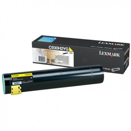 Toner jaune longue durée Lexmark pour C935 ...