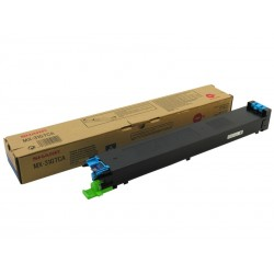 Toner cyan Sharp pour copieur MX2301N/2600N/3100N/4100/5000... (MX31GTCA)