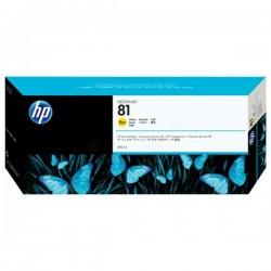 Réservoir Encre Jaune HP pour Designjet 5000 ... (N°81)